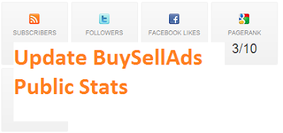 How To Update BuySellAds Facebook/Twitter/Alexa Public Stats