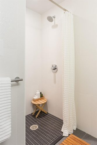 New York City micro apartment shower