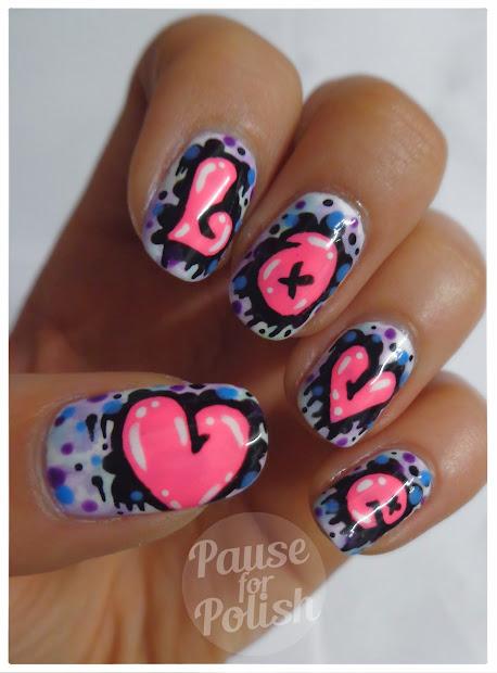 pause polish love graffiti