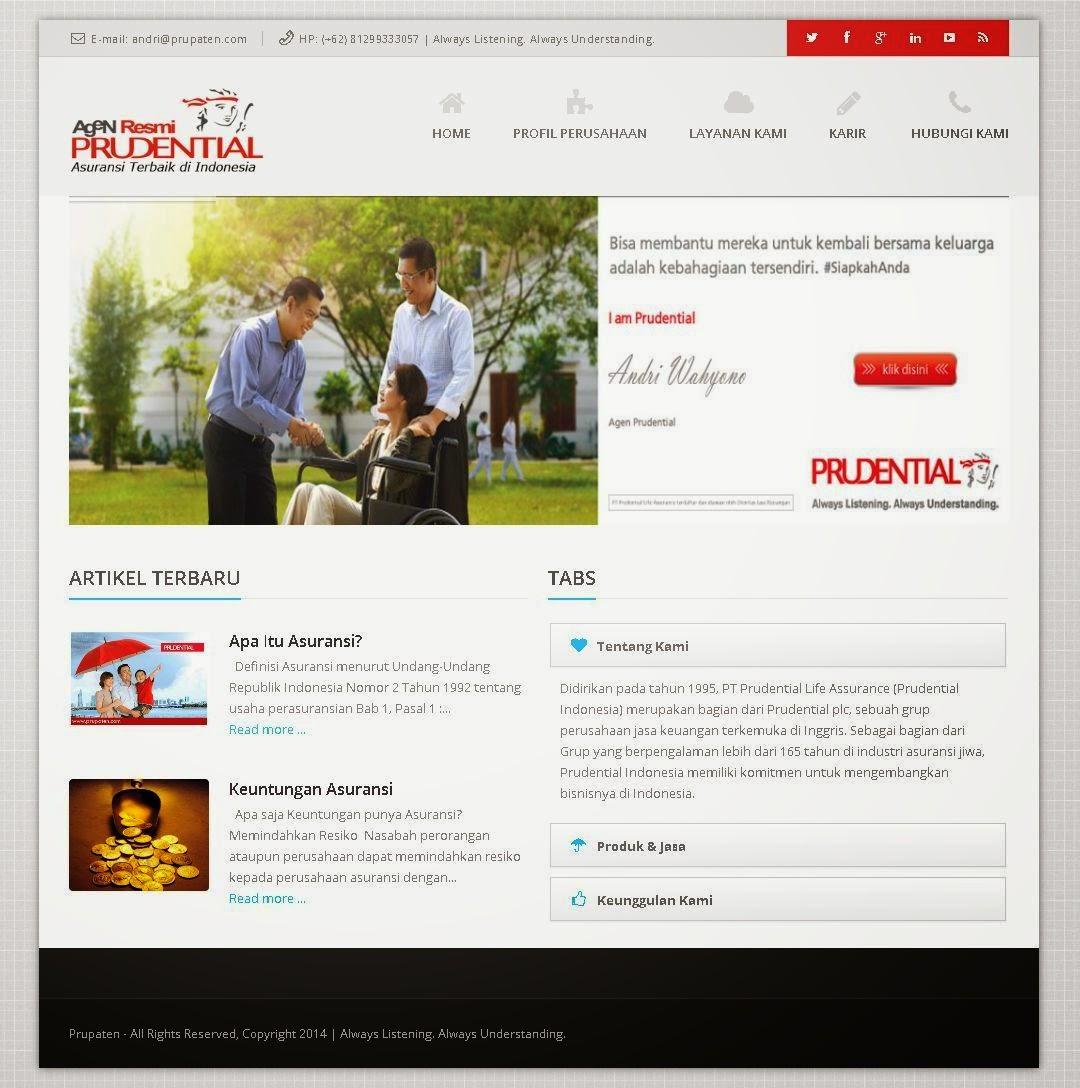jasa pembuatan Website Agensi Prudential