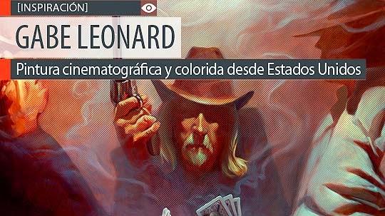 Pintura cinematográfica y colorida de GABE LEONARD