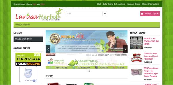 Larissaherbal.com Distributor Produk ABE Terpercaya
