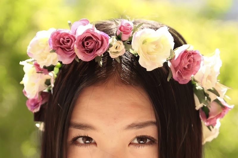 floral crown, floral garland, spring, summer, style, Etsy, P&P Crown, DIY floral crown, flower crown, rose crown