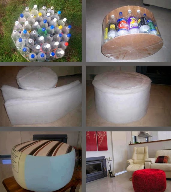 DIY bottle furniture for house