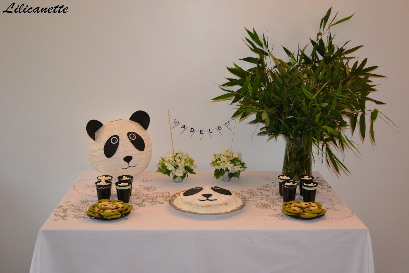 decoration bapteme theme panda