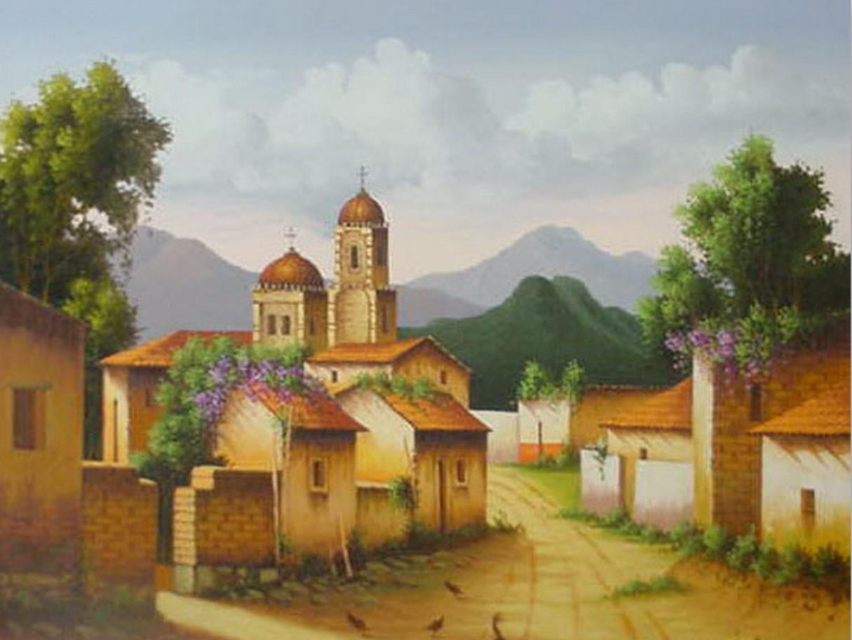 Fotos de paisajes coloniales imagui - Cuadros estilo colonial ...