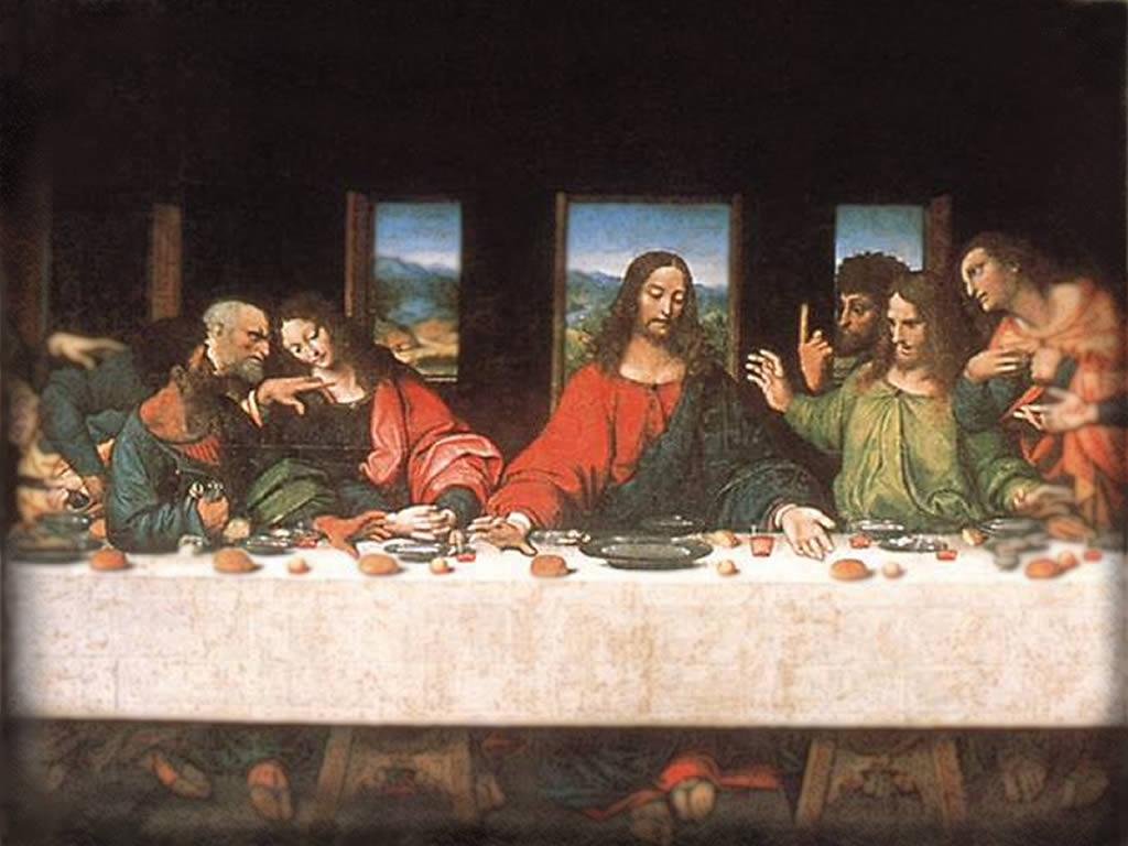 Look at that Last Supper and train yourself not to be a coward and a ... Da Vinci Last Supper Restored
