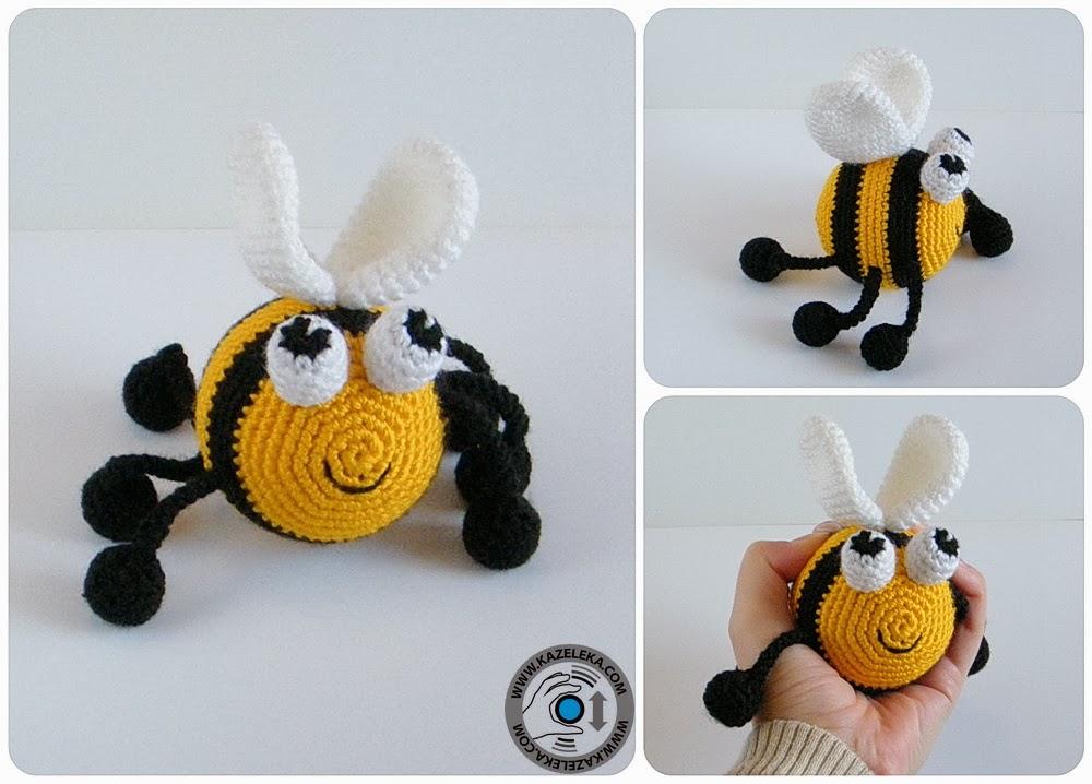 вязаная пчела - crochet bee