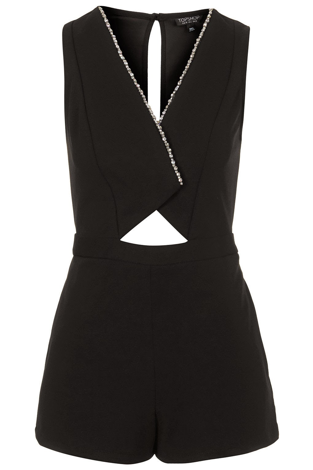 crystal playsuit, topshop black playsuit, smart black playsuit,