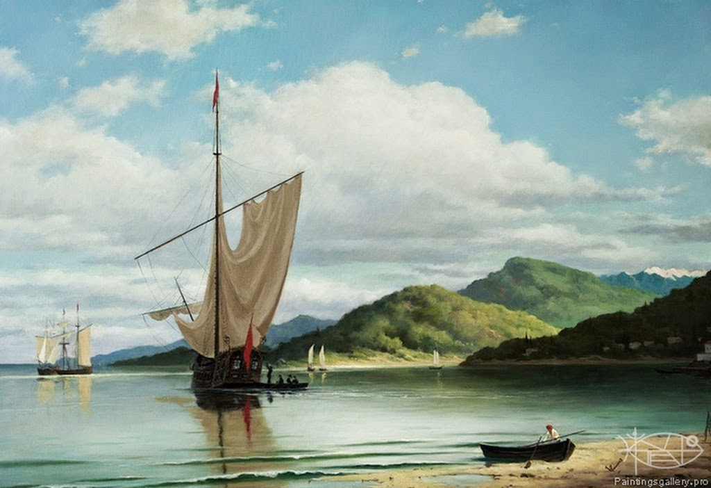 barcos-de-vela-pintados-al-oleo