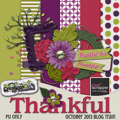 "Free scrapbook kit ""Thankful"" by Creations by Samantha"