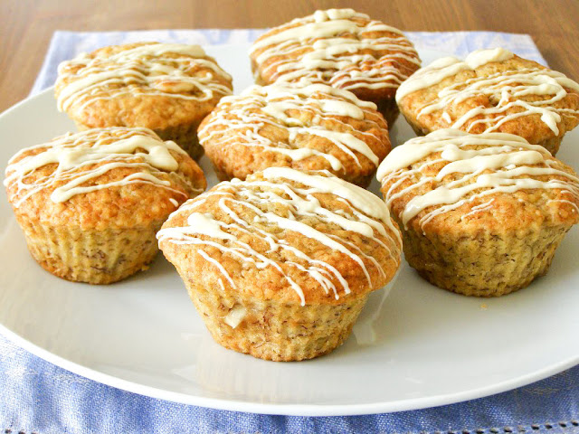 Vegan Banana White Chocolate Muffins