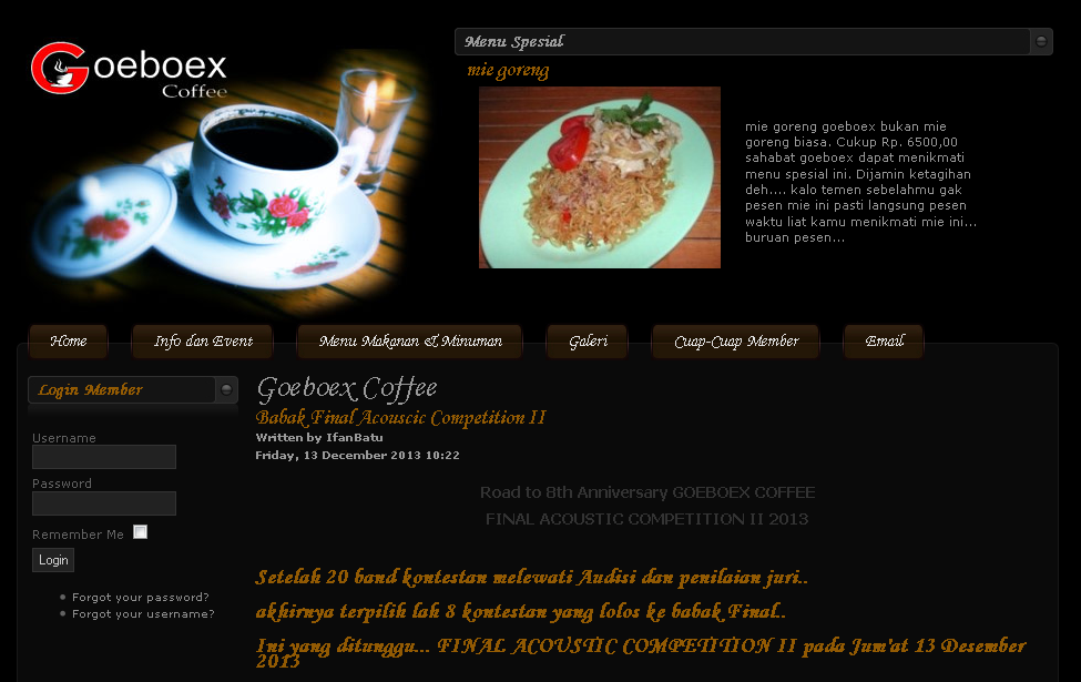 Tempat Nongkrong Keren Jogjakarta Goeboex Coffee
