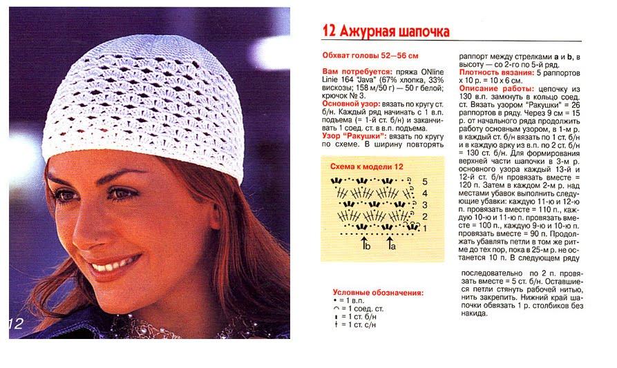 Шапки, шапочки, береты, косынки крючком - Yurcovsky Olya. Вязание крючком вязаные летние шапочки панамки на женщин