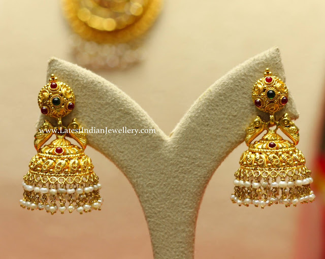 Pretty Gold Jhumkas