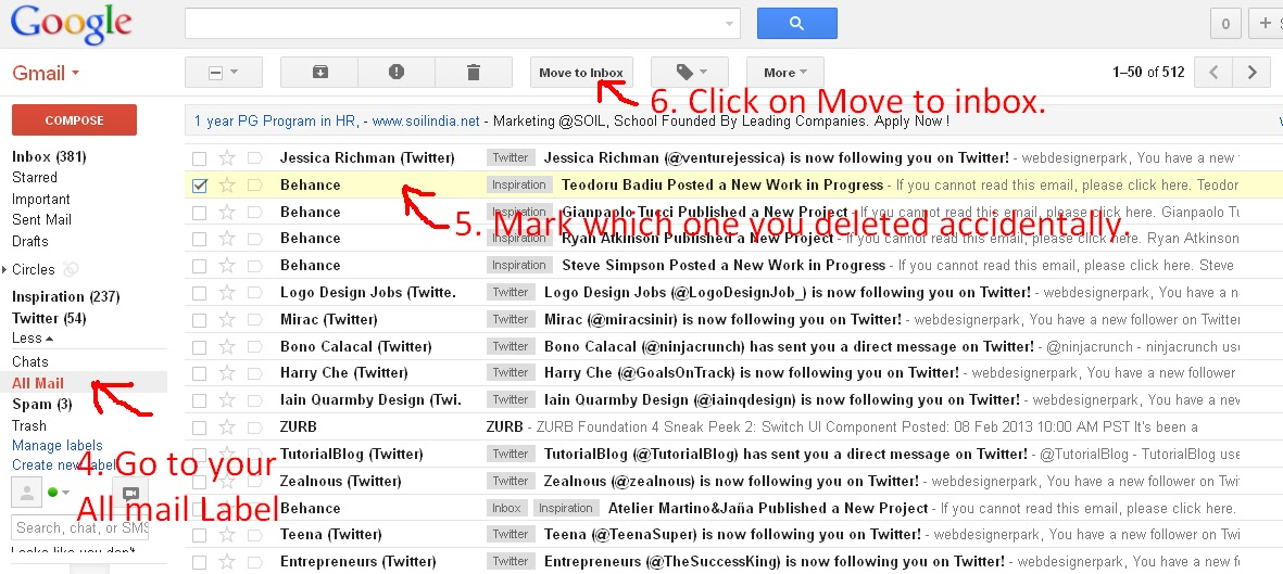 How To Get Archived Gmail >> Retrieve Your Messages And Emails From Gmail Which You Accidentally