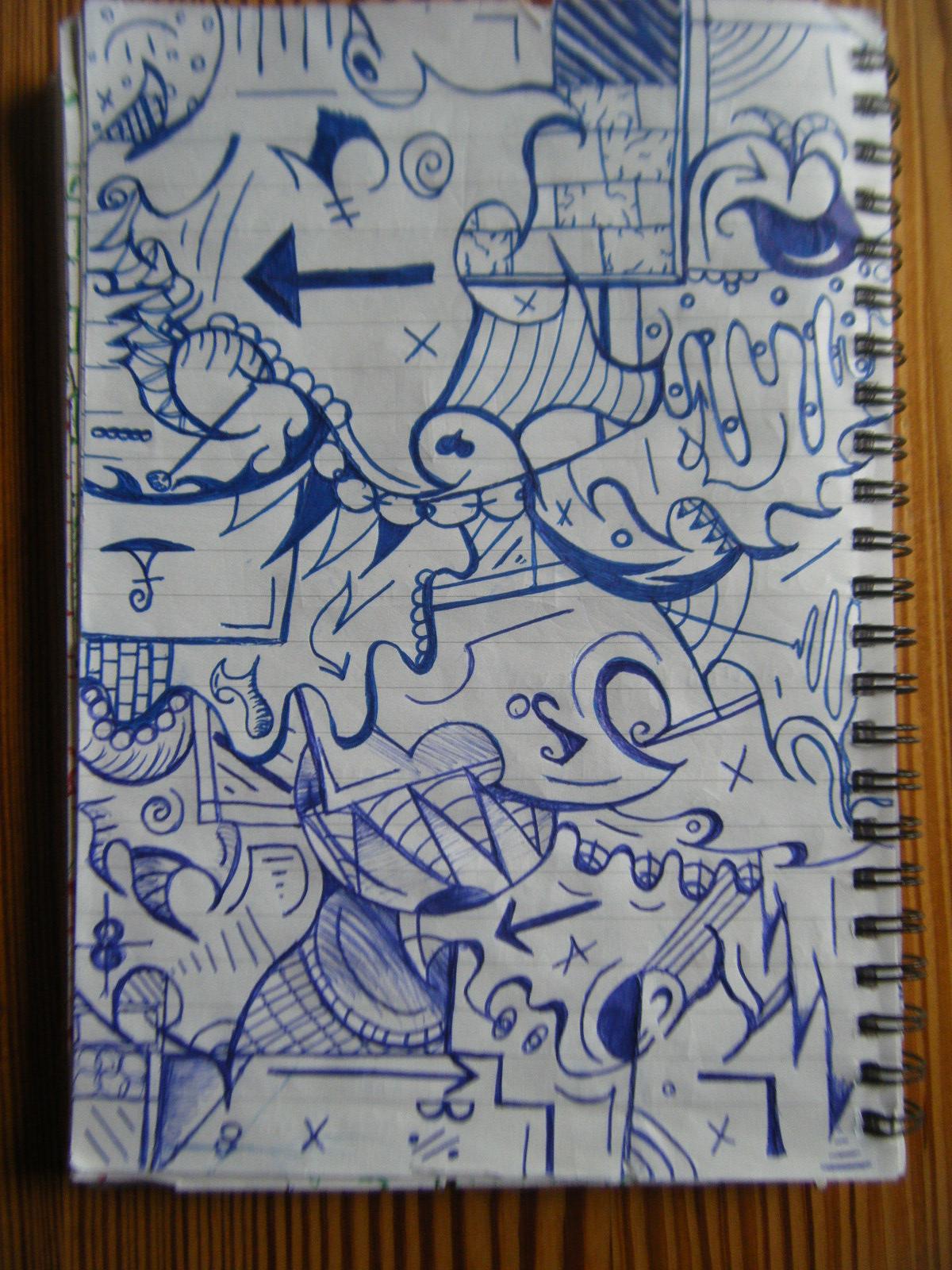 graffiti style doodles