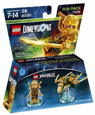 JUGUETES - LEGO Dimenions  71239 Ninjago : Fun Pack - Lloyd & Golden Dragon Figura | Toys & Videojuegos | 2016 Piezas: 56 | Edad: 7-14 años Comprar en Amazon.es | Buy Amazon.com :