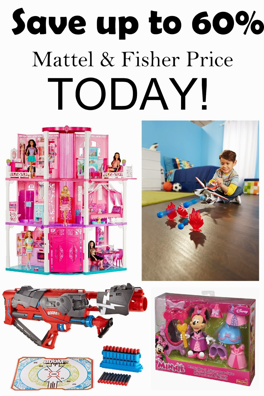 Save up to 60% off Mattel and Fisher Price toys for kids today! This is a great black Friday week deal that will help you get some Christmas shopping for kids toys done.