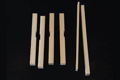 Modelo de listones de madera para armar