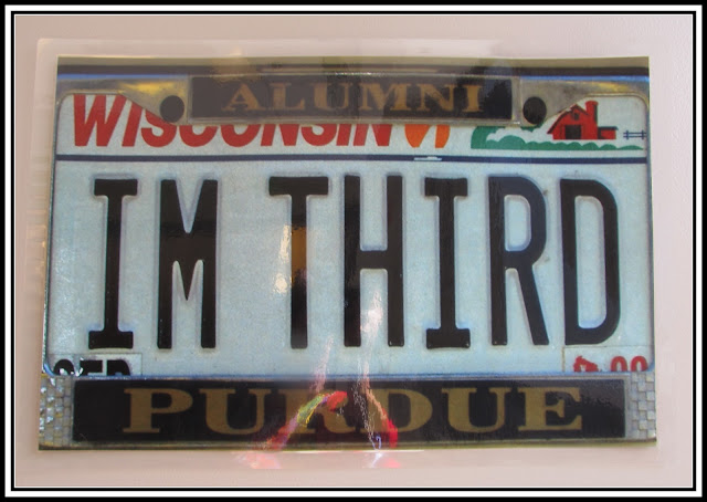 "photo of: ""I'm Third"" License Plate"