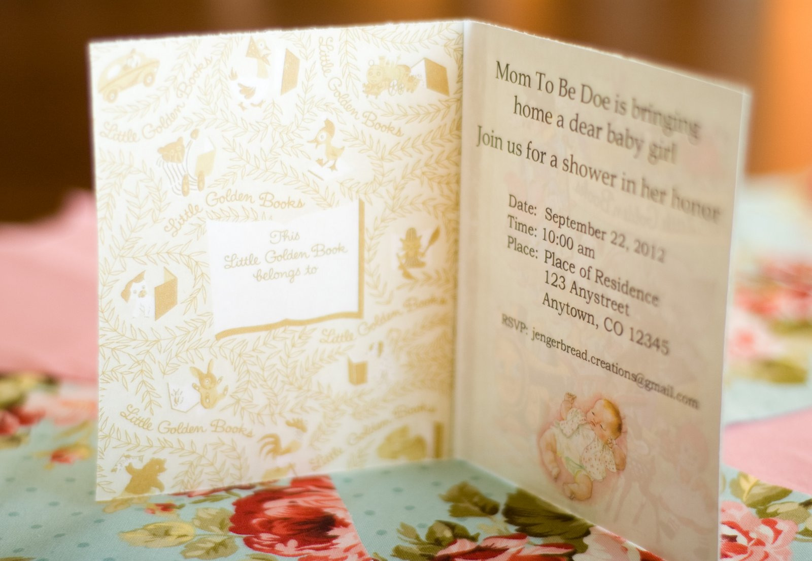 Jengerbread Creations: Baby Dear Baby Shower: The Invitations