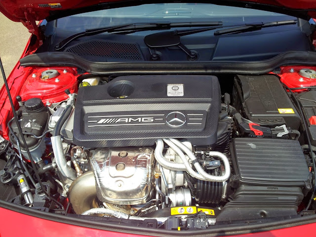 Mercedes A45 AMG engine bay