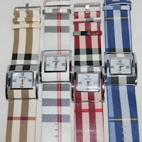 jam tangan burrberry women square