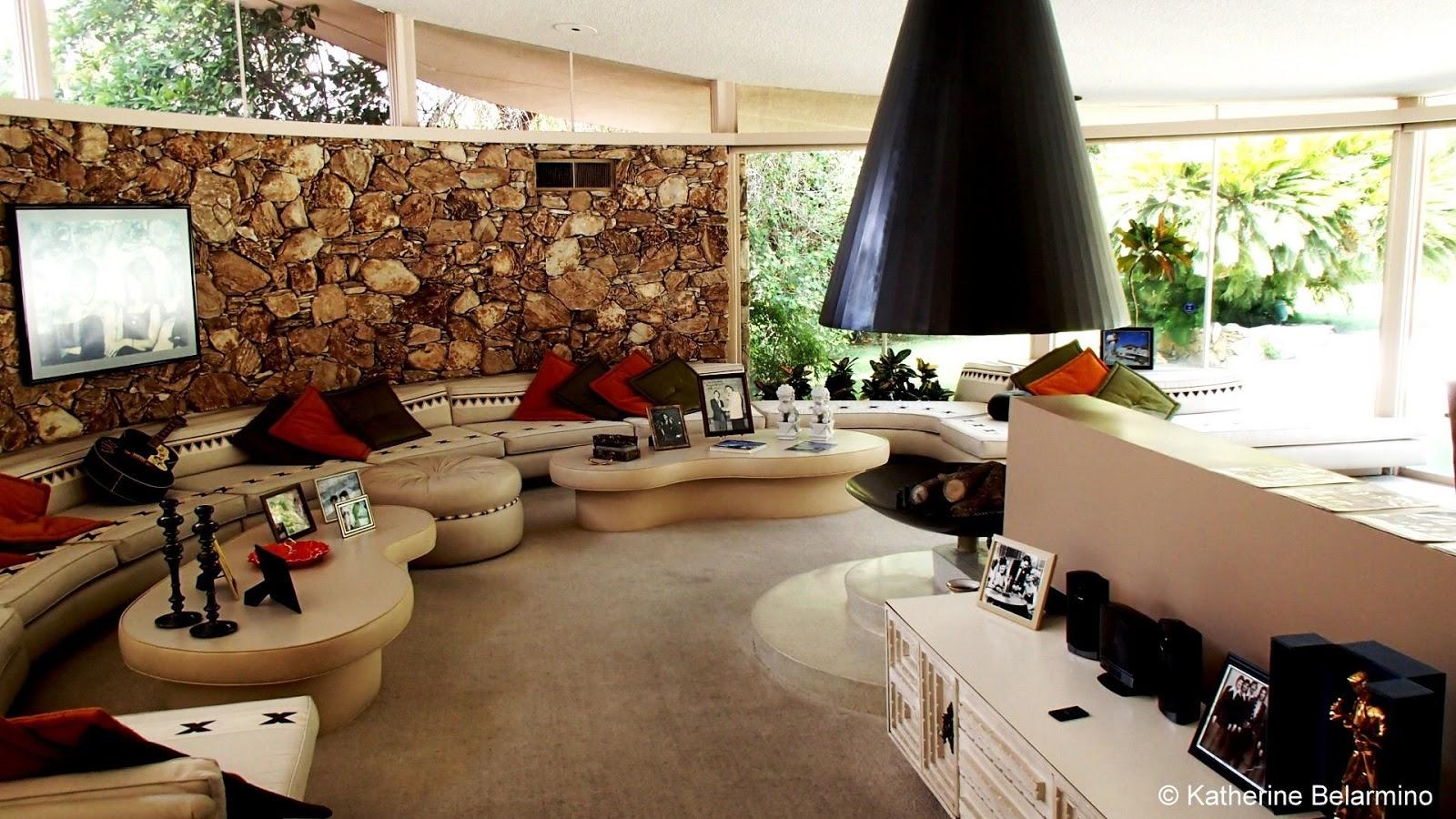 Elvis Honeymoon Hideaway Living Room, Palm Springs, California
