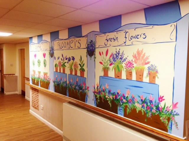 Joanna perry top mural artist hand painting murals for Nursing home door decorations