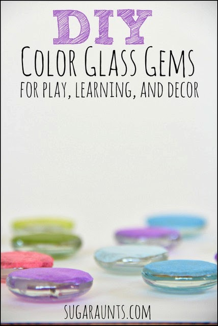 Create your own colored glass gems easily for learning, decor, and play.