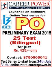 IBPS PO PRE 2015 Online Test Series