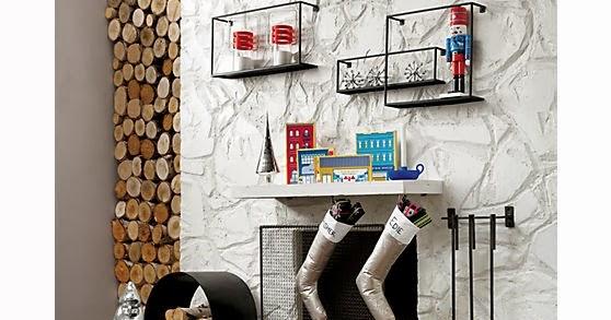 Jenn Ski: CB2: 3-piece bend wall mounted fireplace tool set
