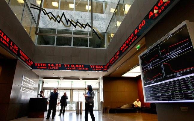 Εικόνα κατάρρευσης στο Χρηματιστήριο μετά την ανακοίνωση της ΕΚΤ! Κατρακυλούν οι τράπεζες