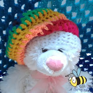 crochet rainbow slouchy