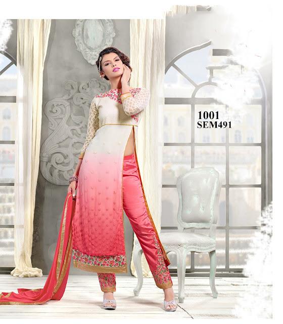 Buy Online Georgette Anarkali Salwar Kameez
