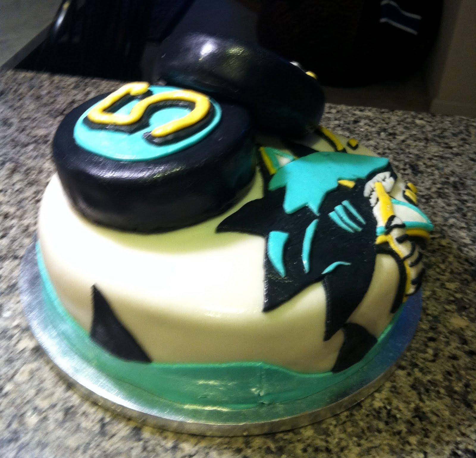 Hush Hush Sweet Charlotte Cakes San Jose Sharks Fondant Cake