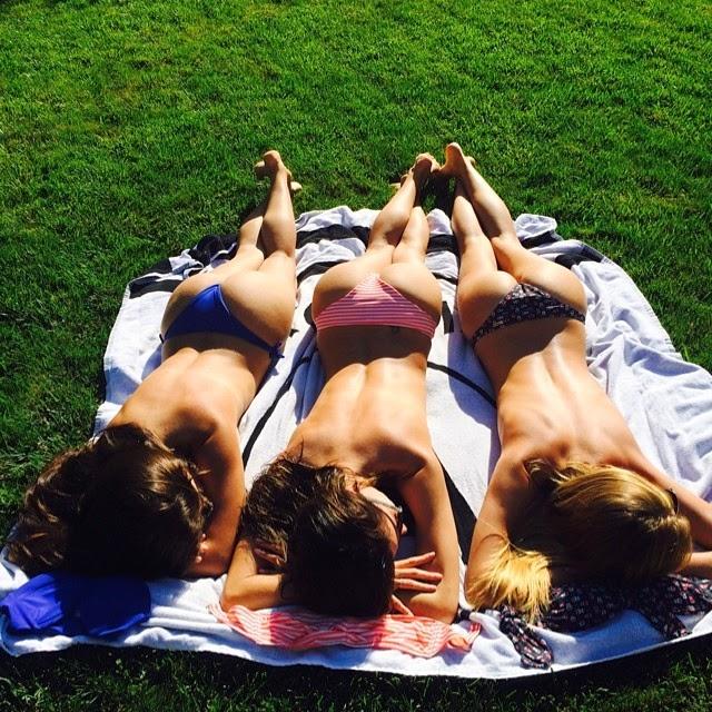Alessandra Ambrosio Sunbathing Topless