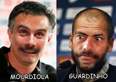 Montaje entre Guardiola y Mourinho
