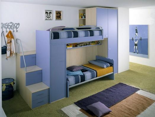 Habitaciones con estilo fotos de dormitorios azules para - Dormitorios juveniles para dos hermanos ...
