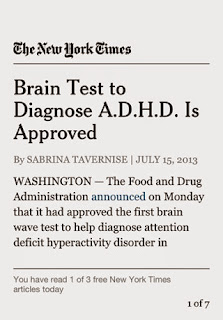Brain Test To Diagnose Adhd Is Approved >> Iq S Corner Article Brain Test To Diagnose A D H D Is