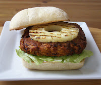 Beanburgers with Grilled Pineapple