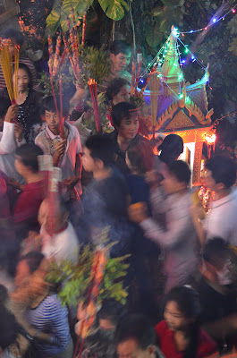 Crowd, Lunar New Year at Wat Phnom, Phnom Penh, Cambodia