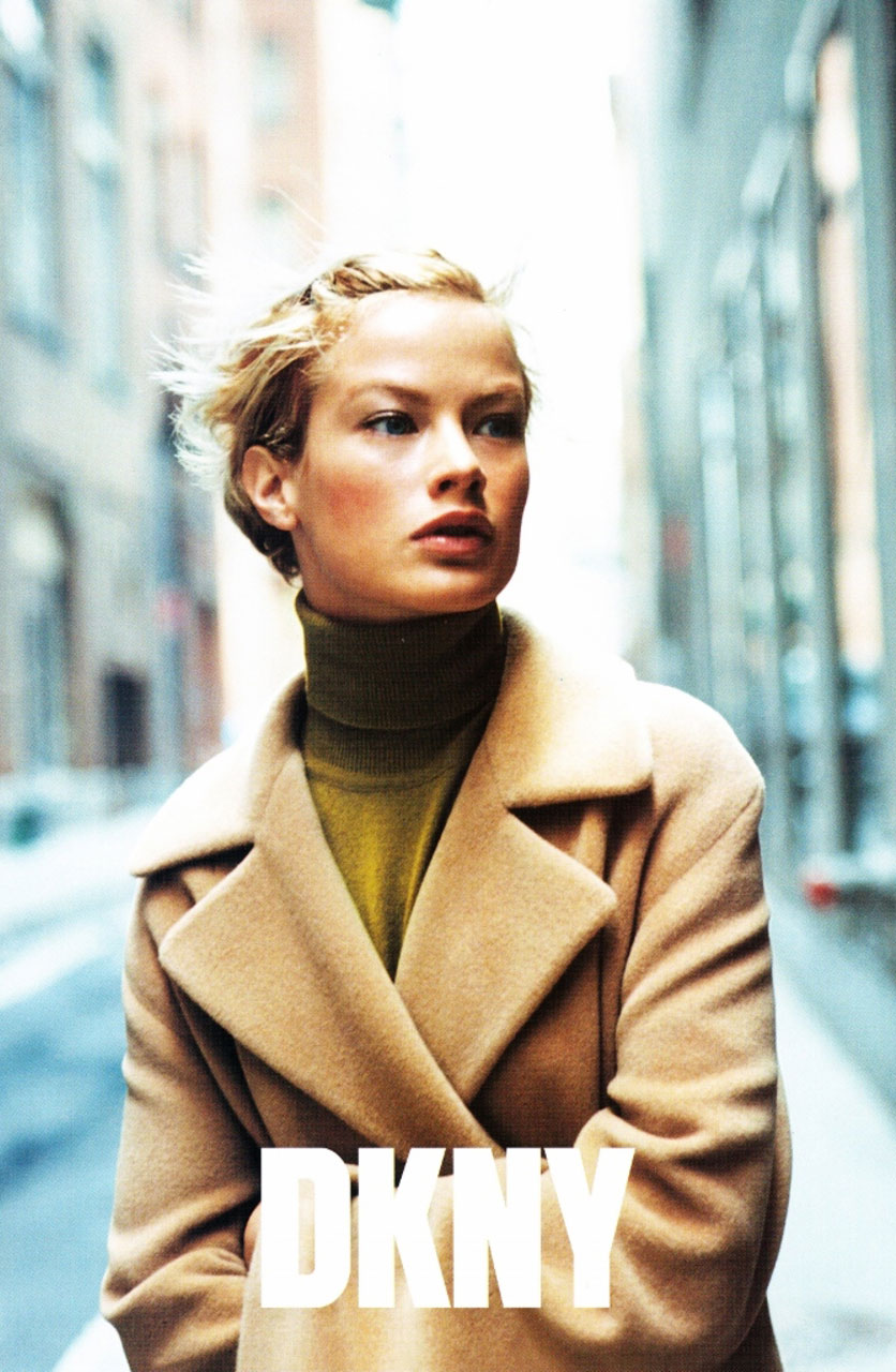 Carolyn Murphy photographed by Nathaniel Goldberg for DKNY Fall/Winter 1996 campaign