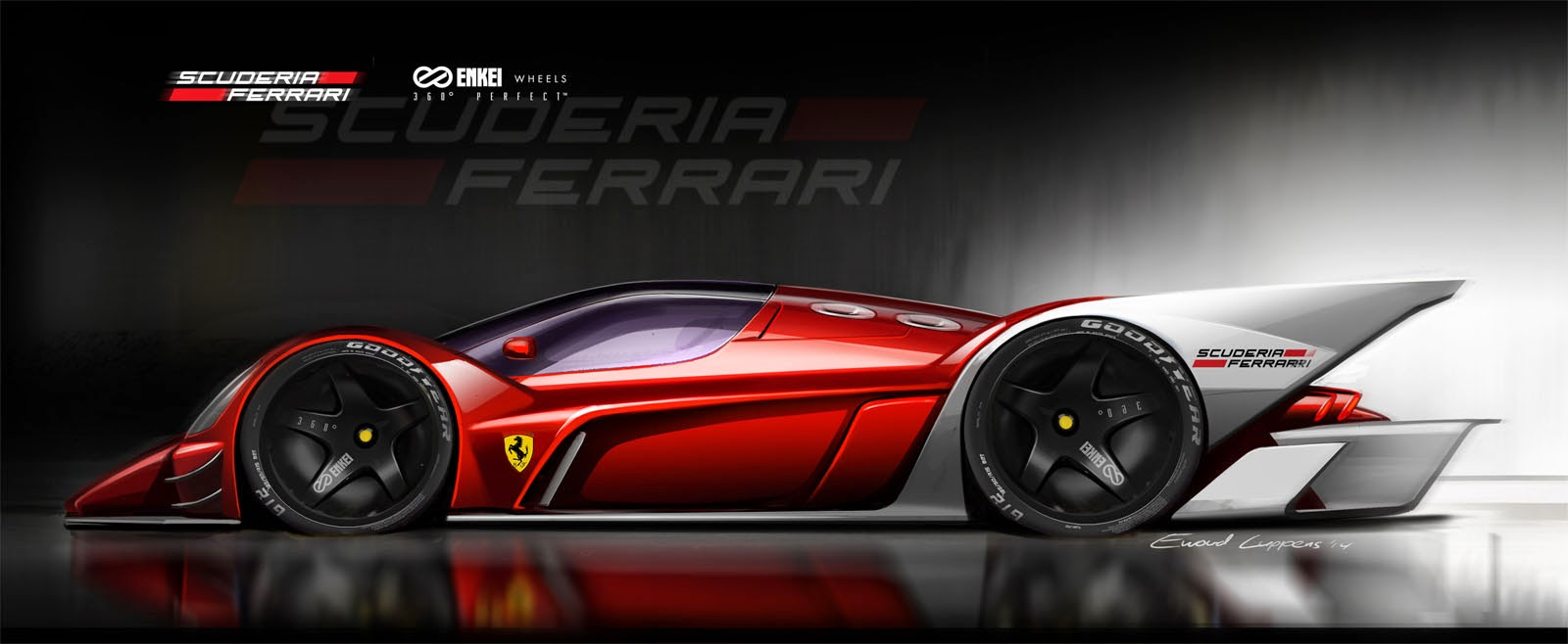 Ewoud Luppens The Ferrari Le Mans Racer Also Gets A Sideview