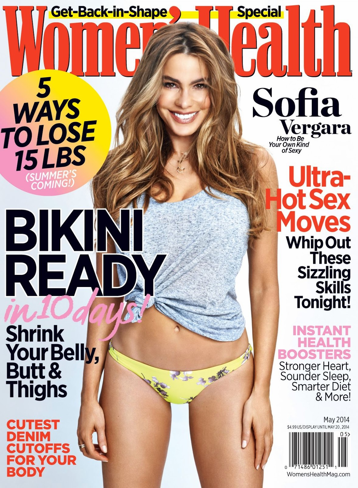 Sofia Vergara For Women's Health Magazine, US, May 2014