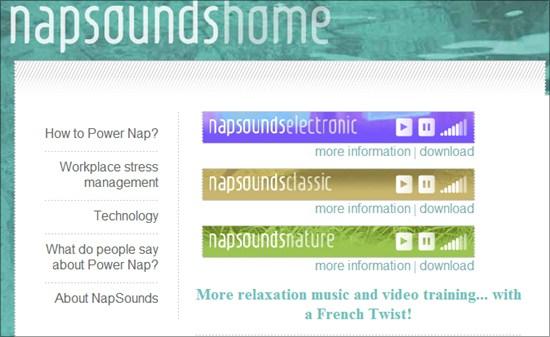 sons relaxants avec napsounds