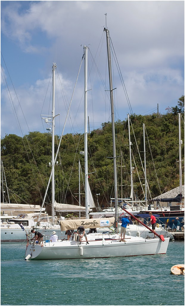 New Forest Photographer sails on Zarafa in Antigua