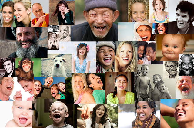 mosaico de risas