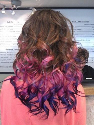 mechas de colores+peinados
